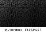 half seamless geometric pattern.... | Shutterstock .eps vector #568434337