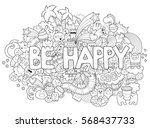 printable coloring page for... | Shutterstock .eps vector #568437733