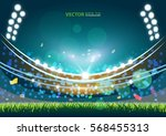 sports stadium with lights  eps ... | Shutterstock .eps vector #568455313