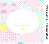 stylish greeting card with...   Shutterstock .eps vector #568455523