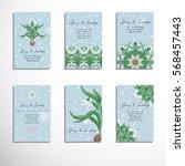 set of six vertical business... | Shutterstock .eps vector #568457443