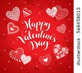 happy valentine's day greeting... | Shutterstock .eps vector #568458013