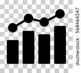 analytics icon. vector... | Shutterstock .eps vector #568464247