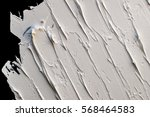 white oil paint texture on a... | Shutterstock . vector #568464583