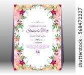 wedding invitation or greeting...   Shutterstock .eps vector #568472227