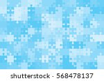150 blue puzzles pieces... | Shutterstock .eps vector #568478137