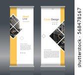 modern roll up banner for... | Shutterstock .eps vector #568478167