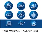 future concept icons. virtual... | Shutterstock .eps vector #568484083