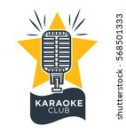 karaoke club and bar vector... | Shutterstock .eps vector #568501333