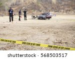 police line tape and blurred... | Shutterstock . vector #568503517