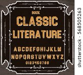 handwritten handcrafted font... | Shutterstock .eps vector #568505263