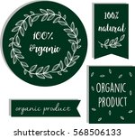100  organic. stylish stickers... | Shutterstock .eps vector #568506133