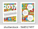 abstract vector layout... | Shutterstock .eps vector #568517497
