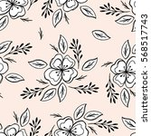 beautiful seamless pattern with ... | Shutterstock .eps vector #568517743