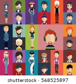 people avatar   with full body... | Shutterstock .eps vector #568525897