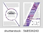 abstract vector layout... | Shutterstock .eps vector #568534243