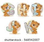 set vector letters of the... | Shutterstock .eps vector #568542007