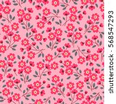cute floral pattern in the... | Shutterstock .eps vector #568547293