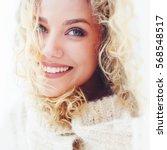portrait of beautiful woman... | Shutterstock . vector #568548517