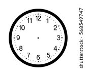 Clock Face Blank Isolated On...