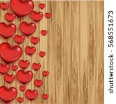 valentine's day greeting card... | Shutterstock .eps vector #568551673