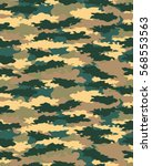 fashionable camouflage pattern  ... | Shutterstock .eps vector #568553563