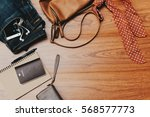 clothing for woman and travel... | Shutterstock . vector #568577773