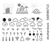 mega pack of weather icons with ... | Shutterstock .eps vector #568580713
