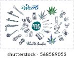 pipes  joint   bong for smoking ...   Shutterstock .eps vector #568589053