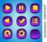 purple buttons set. gui...