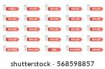 red discount label set vector... | Shutterstock .eps vector #568598857