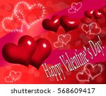 valentine card. card with red... | Shutterstock . vector #568609417