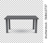 vector 3d table for object... | Shutterstock .eps vector #568613737