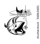 catch the big ones   retro clip ... | Shutterstock .eps vector #56863681