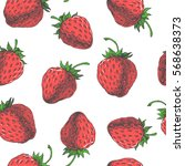 Strawberry. Vector Seamless...