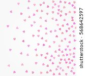 pink glittering background... | Shutterstock .eps vector #568642597