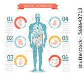 medical infographic template....   Shutterstock .eps vector #568643713