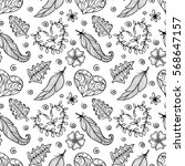 doodle hand drawn pattern with... | Shutterstock .eps vector #568647157