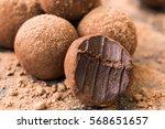homemade fresh energy balls...   Shutterstock . vector #568651657