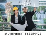 architecture worker man and... | Shutterstock . vector #568654423