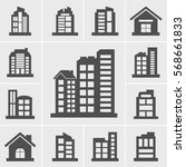building icons vector... | Shutterstock .eps vector #568661833