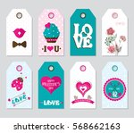 set colored valentine's day... | Shutterstock .eps vector #568662163