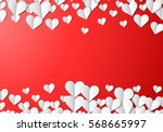 valentines day card with... | Shutterstock .eps vector #568665997