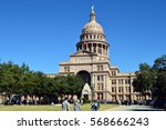 the state capitol in austin ... | Shutterstock . vector #568666243