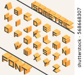 orange geometrical isometric... | Shutterstock .eps vector #568668307