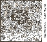 cartoon cute doodles hand drawn ... | Shutterstock .eps vector #568675723