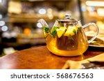 Teapot Of Herbal Tea With...