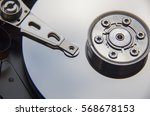 disassembled hard drive from... | Shutterstock . vector #568678153