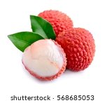 Sweet Lychees Fruits With...