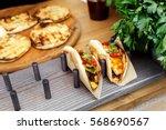 Street Vendor's Taco Outdoors....